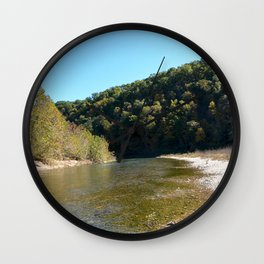 Where Canoes and Raccoons Go Series, No. 20 Wall Clock