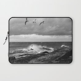 Storm at Five mile Point, Lake Superior Laptop Sleeve