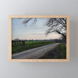 Sunset peak Framed Mini Art Print
