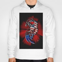 patriotic Hoodies featuring Patriotic Eagle by Mr D's Abstract Adventures