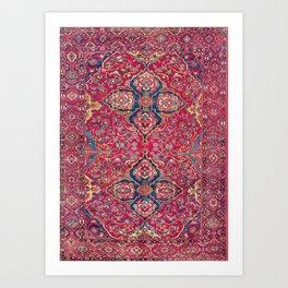 Bakhtiari West Persian Rug Art Print