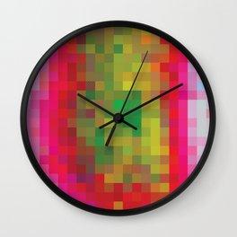 Digital Patchwork: Fuchsia Wall Clock