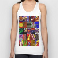 mosaic Tank Tops featuring mosaic by donphil