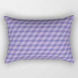 3D Optical Illusion: Purple Cube Pattern Rectangular Pillow
