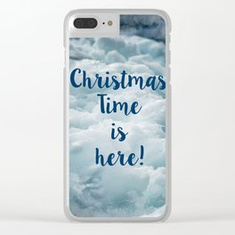 Christmas TIme is Here! Clear iPhone Case