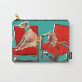 animals in chairs #14 The Greyhound and the Hare Carry-All Pouch