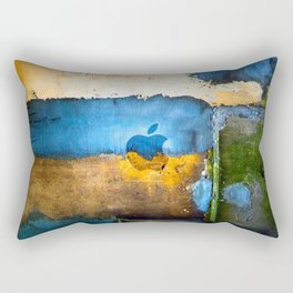 abstract-old-wall-with-painted-apple-logO Rectangular Pillow