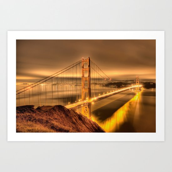 The Golden Gate Art Print