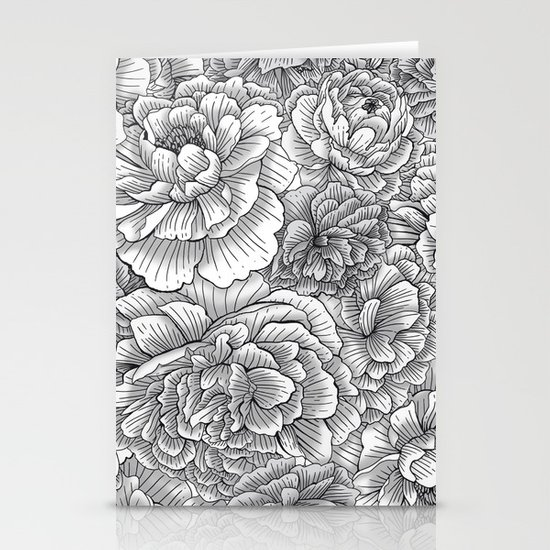 Black & White Blossom Stationery Cards