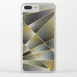 GREY TO YELLOW Clear iPhone Case