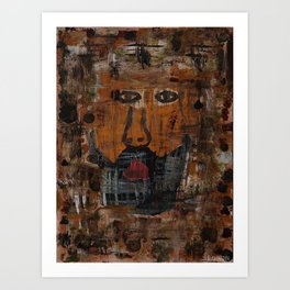 Abstract Man Art Print