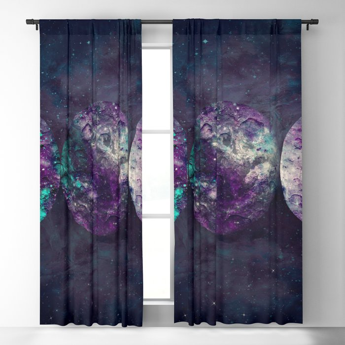 Triple Moon Goddess Universe Blackout Curtain