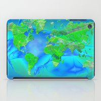 map of the world iPad Cases featuring World Map by Roger Wedegis