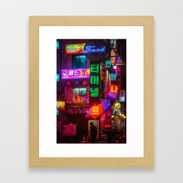 Older Neon Lights Framed Art Print