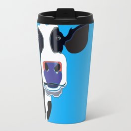 Cow in the Blue Sky Travel Mug