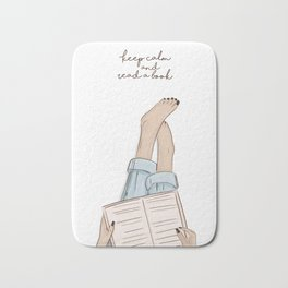 read a book Bath Mat