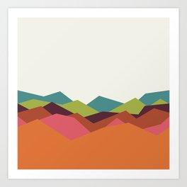 Chevron Mountain Art Print