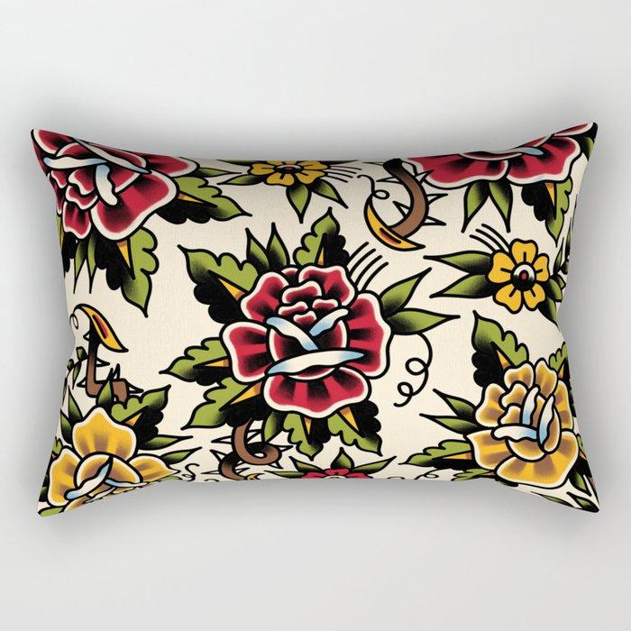 Flower tattoo Rectangular Pillow