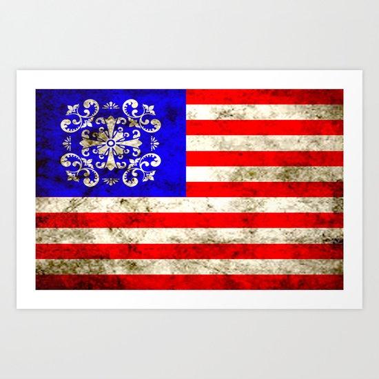 An American flag Art Print