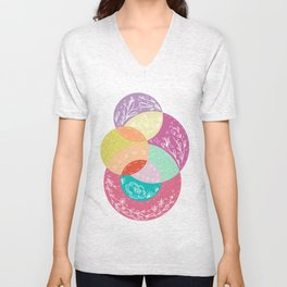 Squiggles & Quilts  Unisex V-Neck