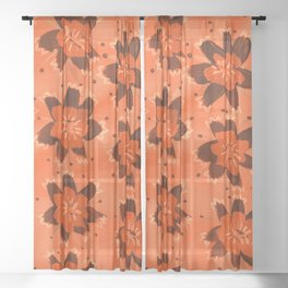 November Hill Rose Sheer Curtain