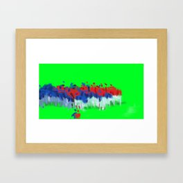 Benches cleared Framed Art Print
