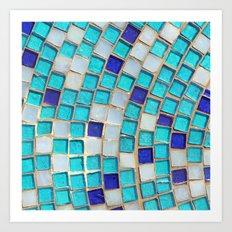 Blue Tiles - an abstract photograph. Art Print