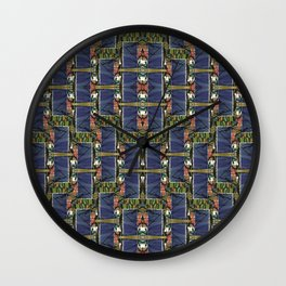 Cool Woven Blue Wall Clock