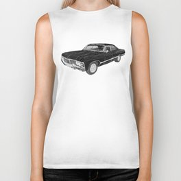 '67 Chevy Impala (w/o background) Biker Tank