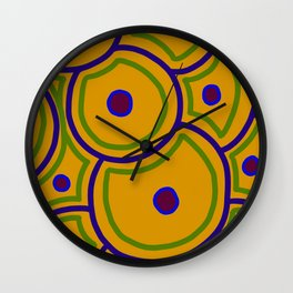 Stem Cells - Yellow Ochre Wall Clock
