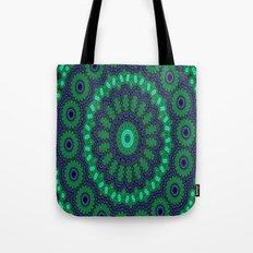 Lovely Healing Mandalas in Brilliant Colors: Black, Royal Blue, Dark Green, and Russian Green Tote Bag