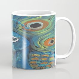 Peacock Head Coffee Mug