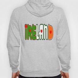 Ireland Font #1 with Irish Flag Hoody