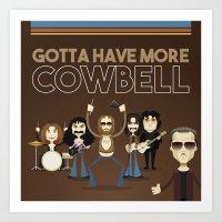 Cowbell v2 Art Print
