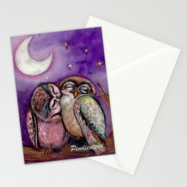 Owls in love Stationery Cards