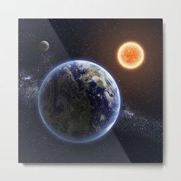 SPACE UNIVERSE GALAXY NEBULA EARTH SUN MOON COSMIC Metal Print