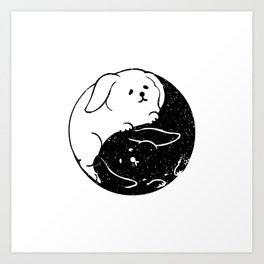 The Tao of Bunny Art Print