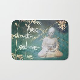 Buddha's awakening from deep meditation Bath Mat