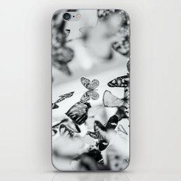 B&W Butterfly iPhone Skin