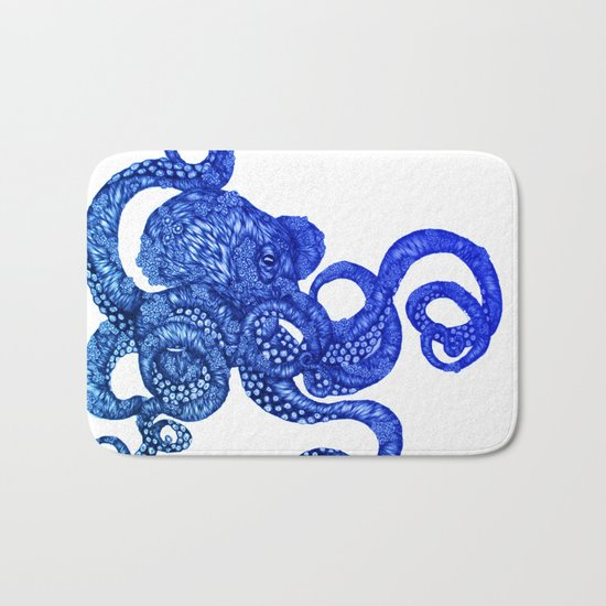 Ombre Octopus Bath Mat