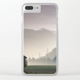 Prattigau Barns Clear iPhone Case