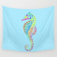 seahorse Wall Tapestries featuring Seahorse by nessieness