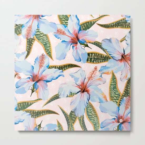 Tropical Pattern - Flowers and Plants Metal Print