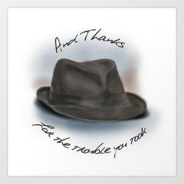 Hat for Leonard Cohen Art Print