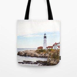 Protecting Portland ~ Port Head Lighthouse Tote Bag