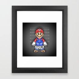 It's ME, Evil Mario !  Framed Art Print