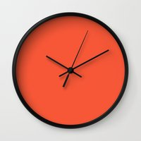 spice Wall Clocks featuring Hot Spice by Welovepillows