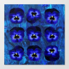 Deep Blue Velvet Canvas Print