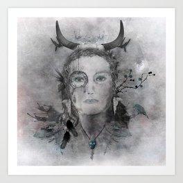 Wakanda (Dakota) - A collaboration with Christelle Guilhen Art Print