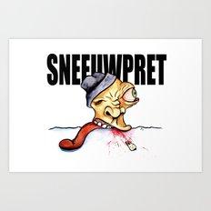 Sneeuwpret (Dutch) Art Print